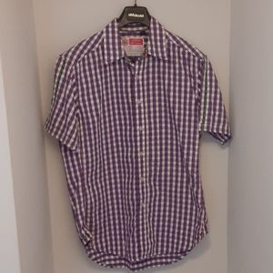 Robert Graham Button Up Short Sleeve Shirt Medium